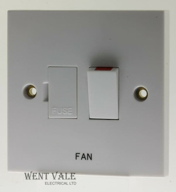 """Schneider Exclusive - GSWSPUR-FN - 13a Switched Connection Unit Printed """"Fan"""""""